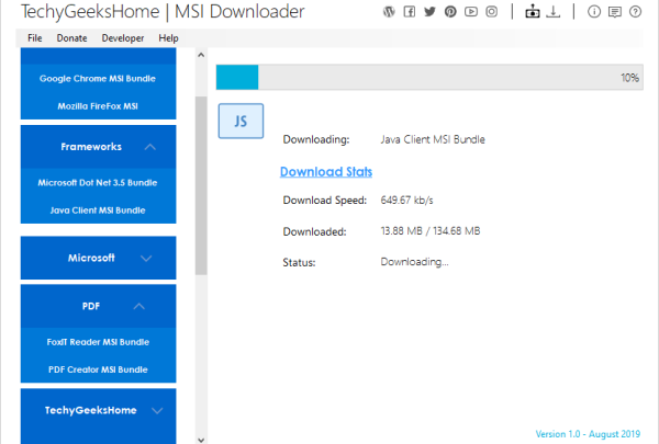 MSI Downloader lets you download the latest MSI installers