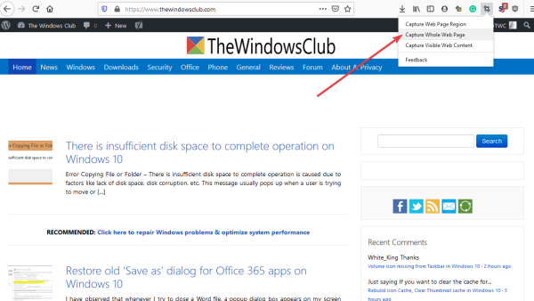 How to download and save web pages for offline viewing using Firefox