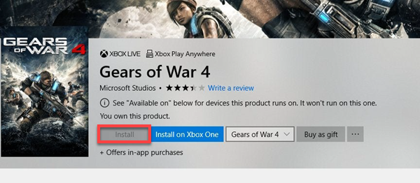 Install button is greyed out for some Apps or Games in Microsoft Store
