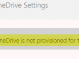 OneDrive is not provisioned for this user