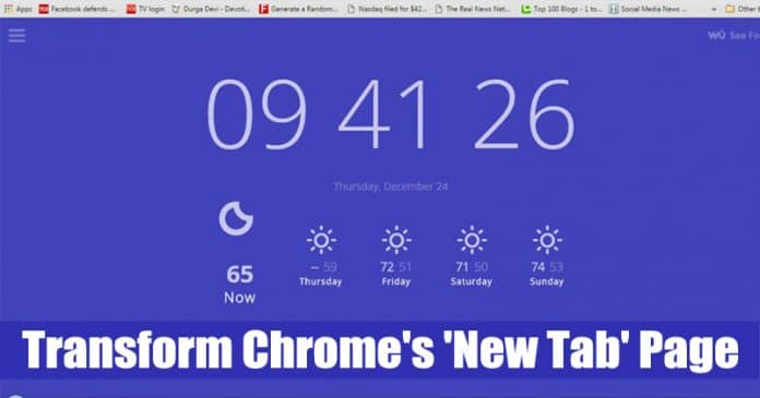 20 Best Chrome Extensions to Transform 'New Tab' Page