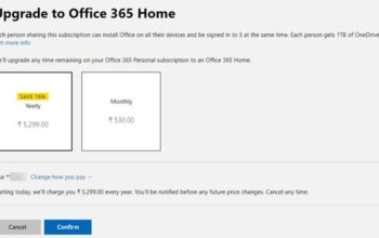 How to change Office 365 Plan