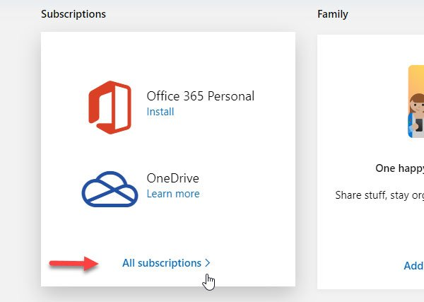 How to cancel Office 365 Subscription or stop Auto renewal