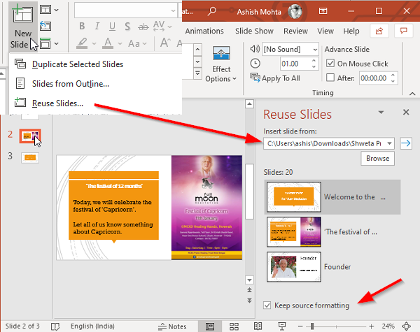 How to merge multiple PowerPoint Presentations into one