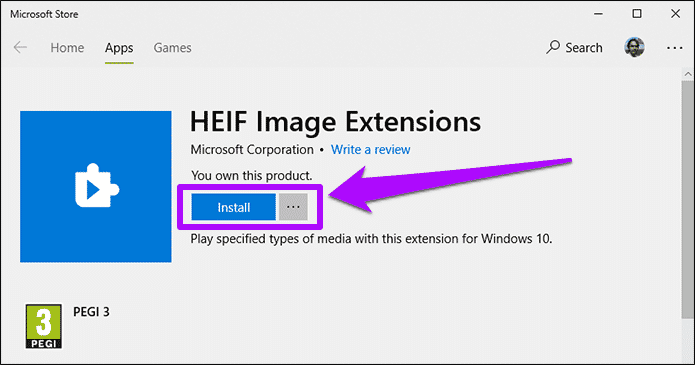 HEIC Image extensions