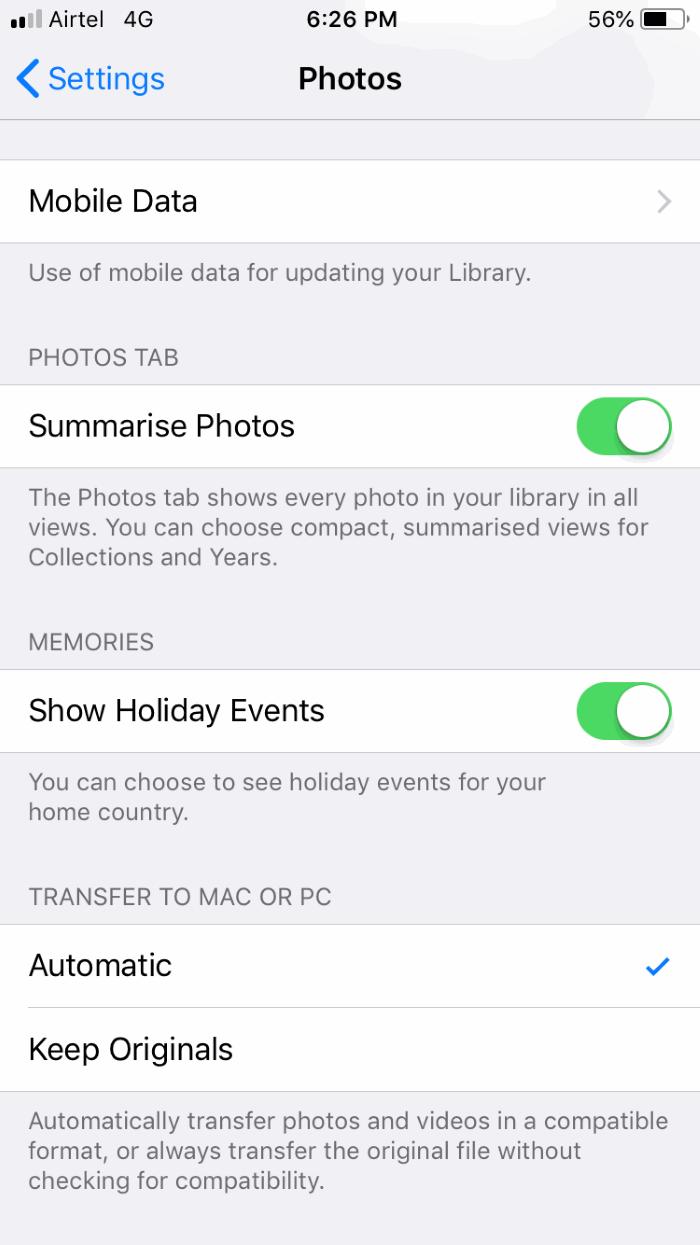 Using iOS Automatic Transfer Mode