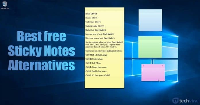 5 Best Sticky Notes Alternatives for Windows 10
