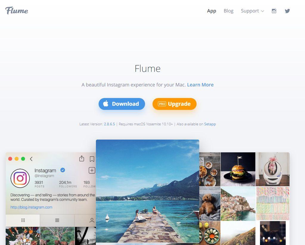 Flume Instagram app