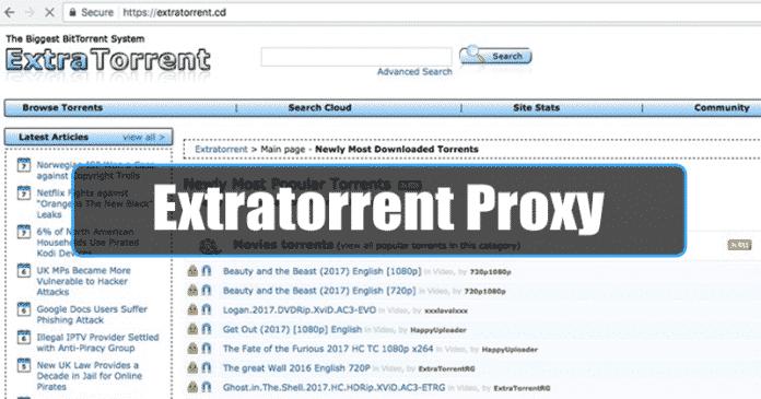 ExtraTorrent Proxy Sites List (100% Working ExtraTorrent Mirror Sites)