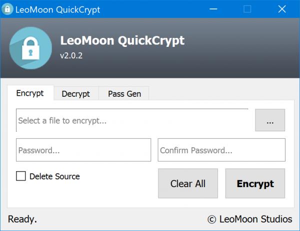 QuickEncrypt lets you encrypt & decrypt files & folders in Windows 10