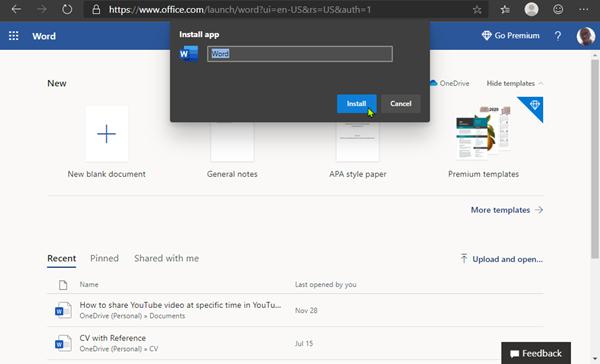 Install Office Web Apps on Windows 10