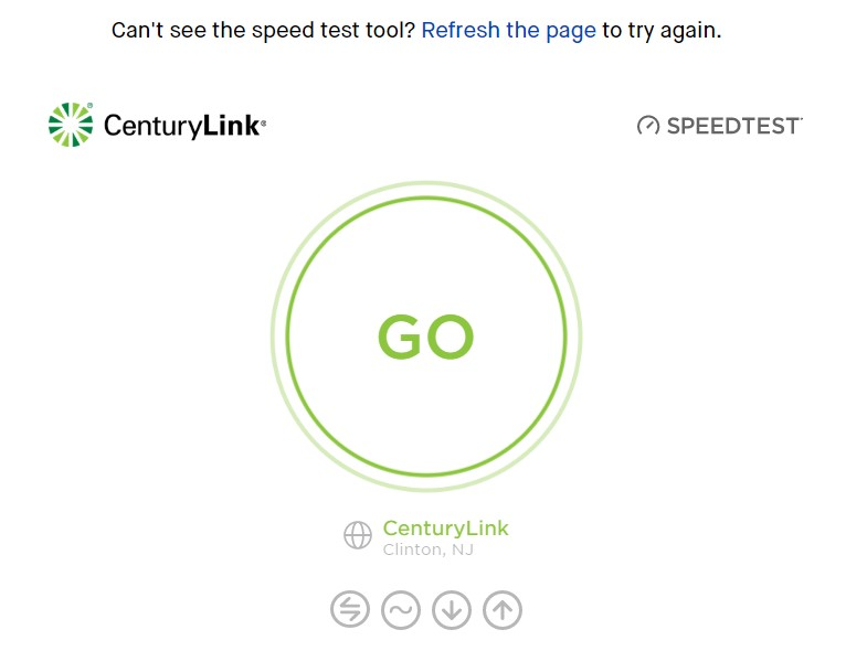 Centurylink speed test