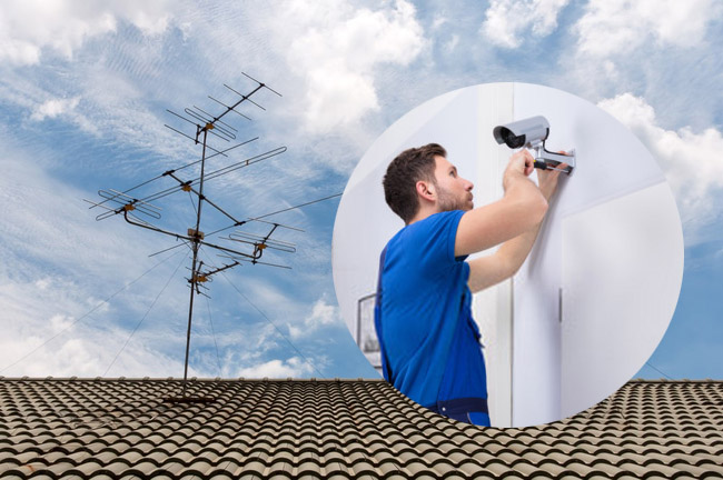 professional TV aerial or CCTV installer