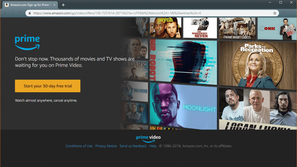 Prime video free trial