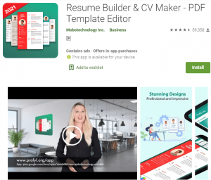Resume Builder Apps For Android