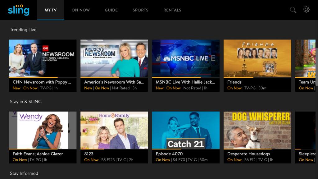 Sling TV: Live TV Streaming Service